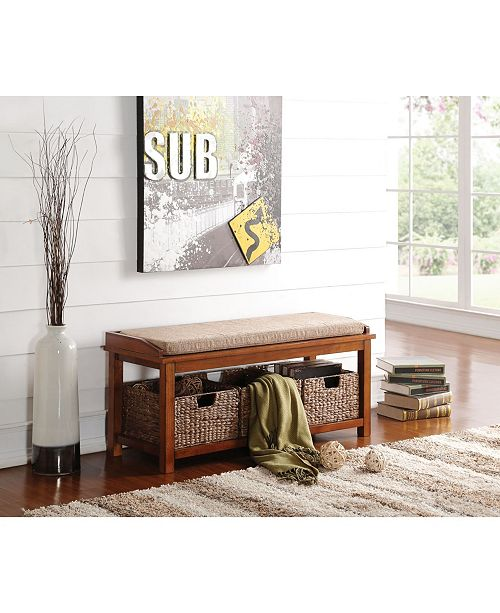 Acme Furniture Letha Bench with Storage