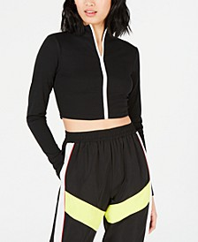 Biker Long-Sleeve Zip-Up Top