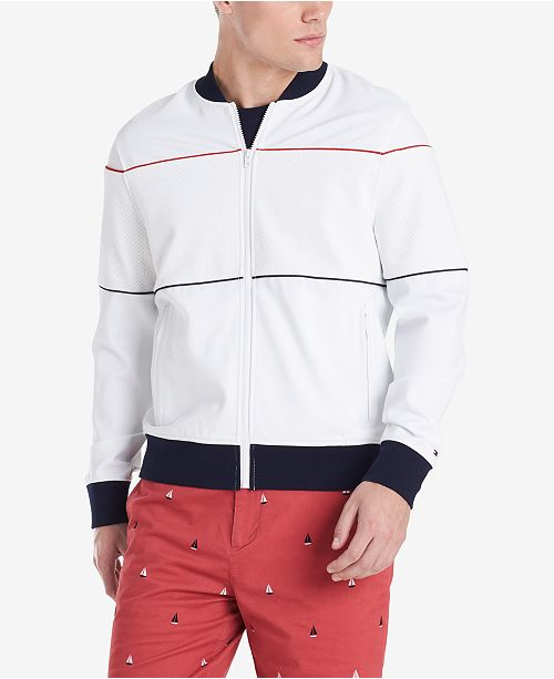 7d84aa44a Tommy Hilfiger Men's Two Stripe Bomber Jacket, Created for Macy's ...