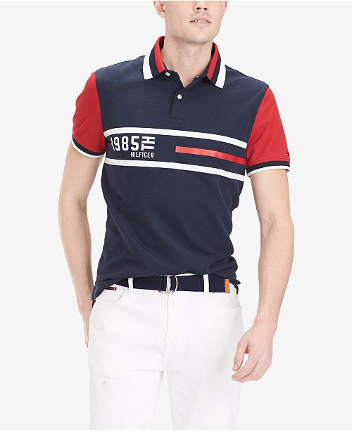 e24c526a Tommy Hilfiger Men's Logo Graphic Polo, Created for Macy's & Reviews ...