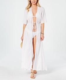 Raviya Solid Maxi Cover-Up Kimono