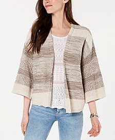 Cotton Space-Dyed Cardigan, Created for Macy's