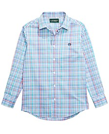 Big Boys Plaid Dress Shirt