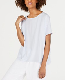 Eileen Fisher Tencel® and Recycled Polyester Boat-Neck Top