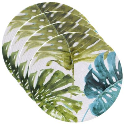Palm Leaves 4-Pc. Round Dinner Plate
