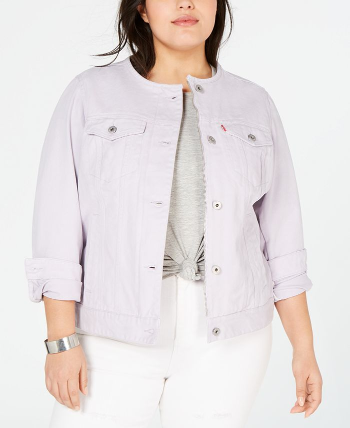Levi's - Trendy Plus Size Cotton Denim Trucker Jacket