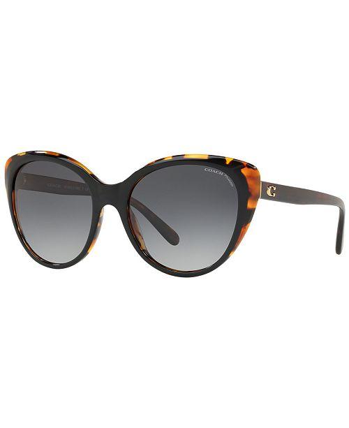 962f1311b7e0 COACH Polarized Sunglasses, HC8260 55 L1060 & Reviews - Sunglasses ...