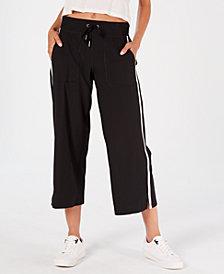Calvin Klein Performance Striped Wide-Leg Capri Pants