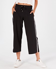 Calvin Klein Performance Striped Wide-Leg Capri Pants