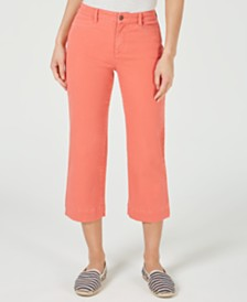 Charter Club Petite Wide-Leg Flare-Crop Jeans, Created for Macy's