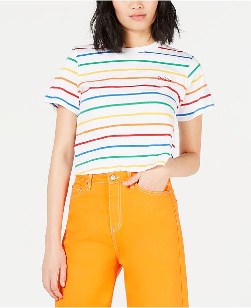 9d49d329fd2 Dickies Cropped Striped T-Shirt & Reviews - Tops - Juniors - Macy's