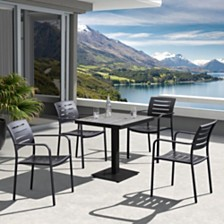 Zander Outdoor Dining Table, Quick Ship