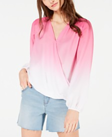 I.N.C. Ombré Surplice Top, Created for Macy's