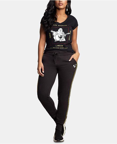 True Religion Embellished Printed Cotton T-Shirt