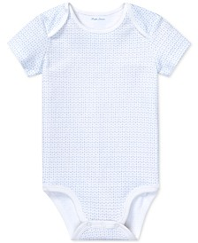 Polo Ralph Lauren Baby Boys Anchor-Print Cotton Bodysuit