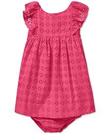 Polo Ralph Lauren Baby Girls Eyelet Cotton Dress