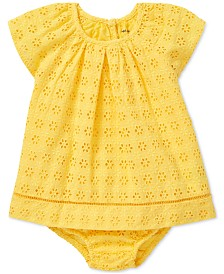 Polo Ralph Lauren Baby Girls Eyelet Cotton Dress