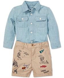 Polo Ralph Lauren Baby Boys Chambray Shirt & Shorts Set