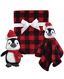 Hudson Baby Plush Blanket, Security Blanket and Toy Giftset, One Size