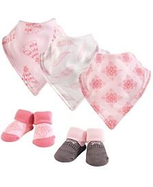 Yoga Sprout Unisex Baby Bandana Bib & Accessory Set, 5 Piece, Teepee, 0-9 Months
