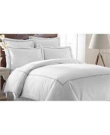 600 Thread Count 3-Piece Double Marrowing Duvet Set - King
