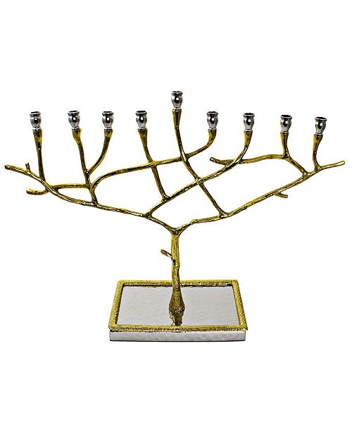Classic Touch Two Tone Candle Menorah