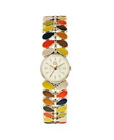 Orla Kiely Watch, Multi Color Bracelet, Double Jewelry Clasp