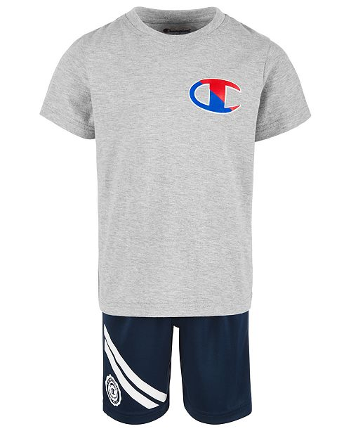 Champion Toddler Boys 2-Pc. Logo-Print T-Shirt & Shorts Set