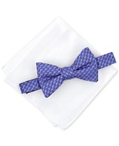 05230be2f0e1 Alfani Men's Geometric Pre-Tied Bow Tie & Solid Pocket Square Set, Created  for