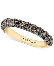 Le Vian Chocolatier® Diamond Band (3/8 ct. t.w.) in 14k Gold