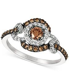 Le Vian Chocolatier® Chocolate™ & Vanilla™ Diamond Ring (3/4 ct. t.w.) in 14k White Gold