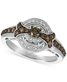 Le Vian Chocolatier® Diamond Ring (5/8 ct. t.w.) in 14k White Gold
