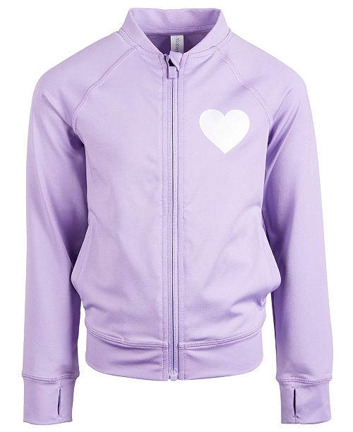 Ideology Toddler Girls Heart Active Jacket, Created for Macy's