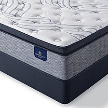 "Serta Perfect Sleeper Kleinmon II 13.75"" Plush Pillow Top Mattress Set - Queen"