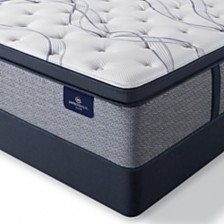 "Serta Perfect Sleeper Trelleburg II 14.75"" Plush Pillow Top Mattress Set - Queen Split"