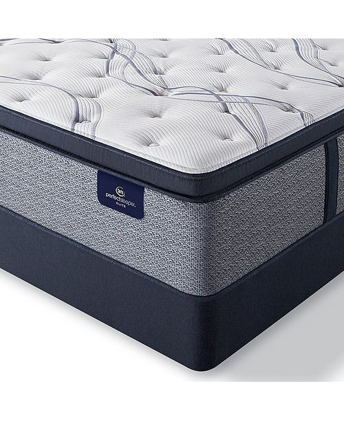 """Serta Perfect Sleeper Trelleburg II 14.75"""" Plush Pillow Top Mattress Set - Queen"""