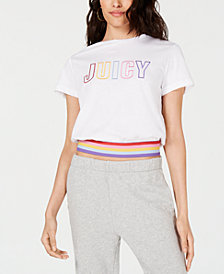 Juicy Couture Rainbow-Logo Graphic T-Shirt