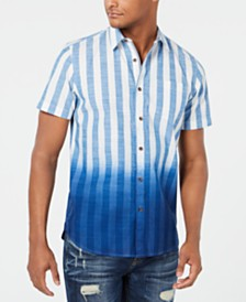 American Rag Men's Striped Dip Dye Shirt, Created for Macy's