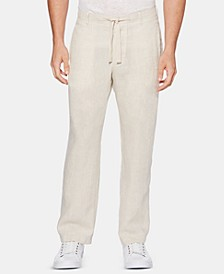 Men's Regular-Fit Linen Drawstring Pants