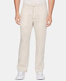 586c74a1fefe Perry Ellis Men's Regular-Fit Linen Drawstring Pants