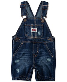 Levi's® Baby Boys Cotton Denim Shortalls
