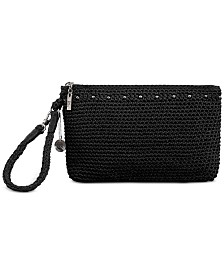 The Sak Silverwood Crochet Wristlet