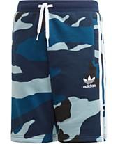 dd2284f5fa9 adidas Originals Big Boys Camo-Print Shorts