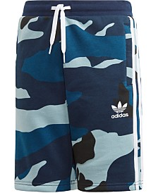 adidas Originals Big Boys Camo-Print Shorts