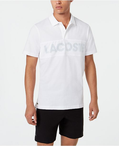 best service 86f36 5b7cf Lacoste Men's Sport Mesh Logo Polo Shirt & Reviews - Men ...