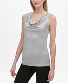Calvin Klein Cowlneck Metallic Top