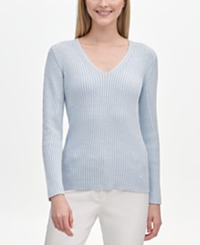 Calvin Klein Fitted V-Neck Sweater