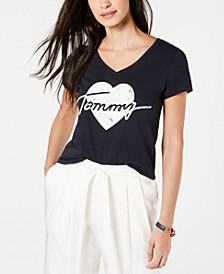 Cotton Heart-Logo Graphic T-Shirt