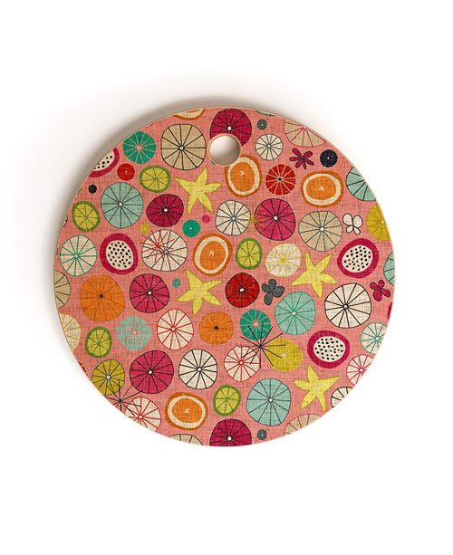 Deny Designs Mod Hawaiian Cocktails Round Cutting Board