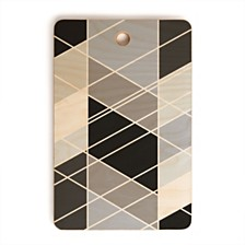 Deny Designs Nordic Slant Geometric Rectangle Cutting Board